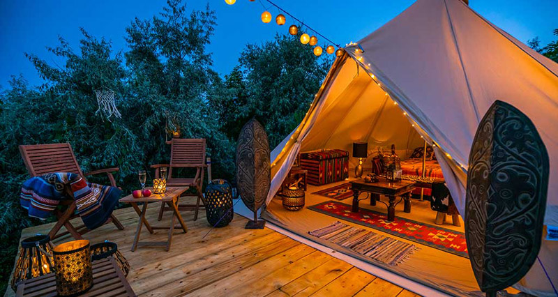 Glamping: A Well-Furnished Luxury Items in a Tent