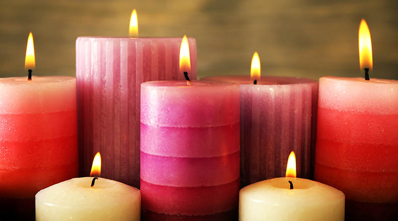 A Scented Candle Creates a Positive Ambiance Where it is Lit