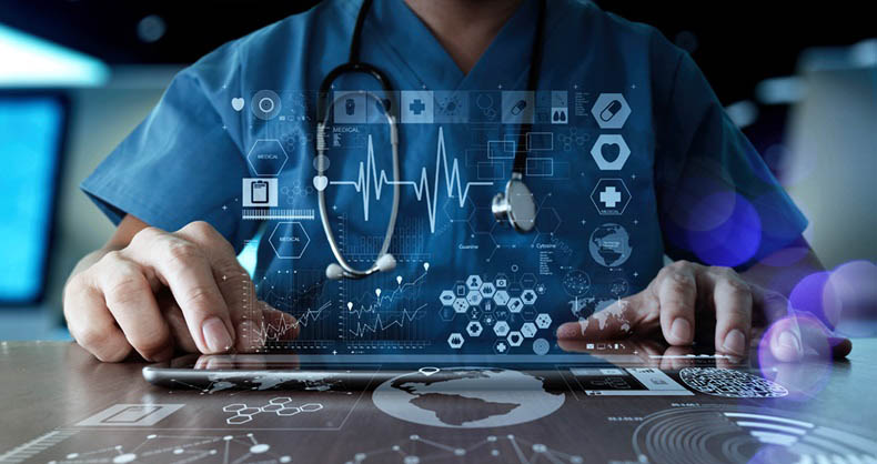 Virtual Clinical Trial Electronic Monitoring of Patients
